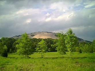Stone Mountain - South side of Stone Mountain from the Songbird Habitat and Trail in 2009