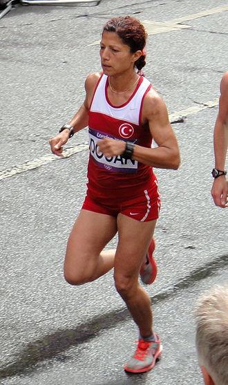Bahar Doğan - Image: Bahar Dogan (Turkey) London 2012 Women's Marathon