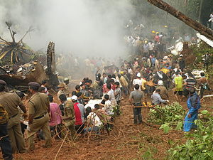 Air India Express Flight 812 - Members of the public services were assisted by local volunteers in a joint rescue operation at the scene of the crash.