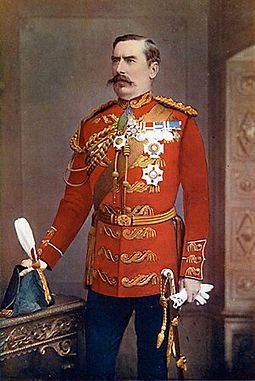 General Sir Baker Russell wearing the full-dress uniform of an aide-de-camp to Queen Victoria Baker Russell.jpg