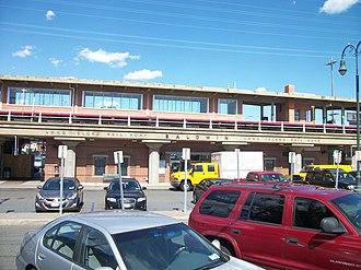 Baldwin station - Baldwin station as seen from Sunrise Highway
