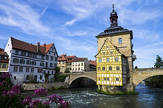 Bamberg - Image: Bamberg town hall from opposite bridge