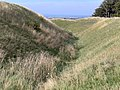 Bank and ditch - Barbury Castle hill fort - geograph.org.uk - 239592.jpg