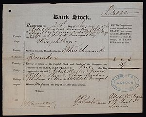 Bank of England - Bank Stock of the Bank of England, issued 25. January 1876