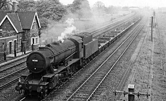Steam locomotives of British Railways - 553 ex-WD Austerity 2-8-0s were acquired from the War Department.  90035 was one of them.