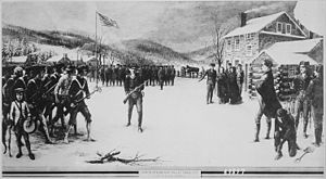 John Brooks (governor) - Von Steuben drilling troops at Valley Forge