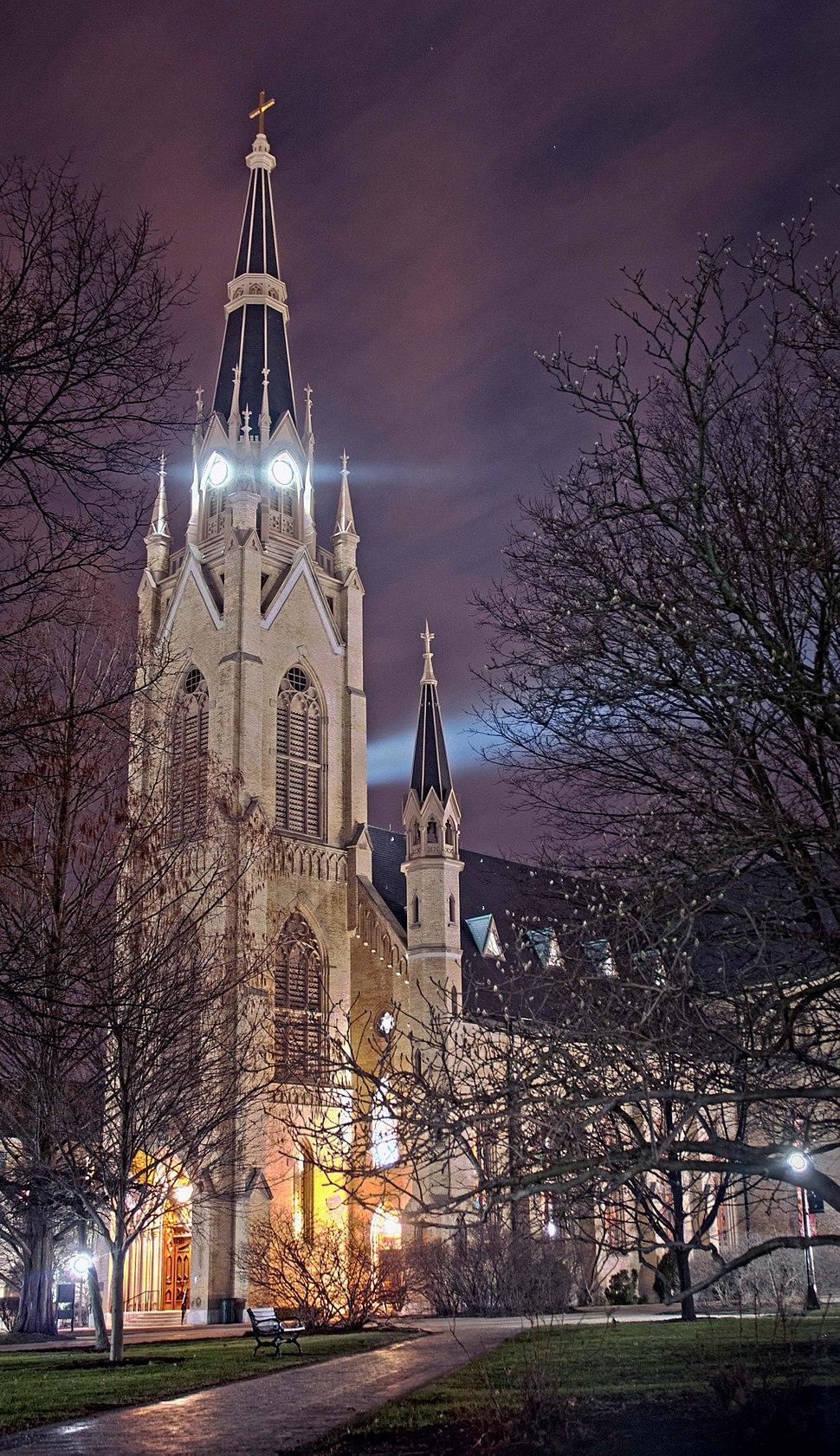 Basilica of the Sacred Heart at Night
