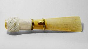 A bassoon reed