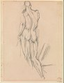 Bathers by a Bridge (recto); Study after Houdon's Ecorché (verso) MET DP273272.jpg