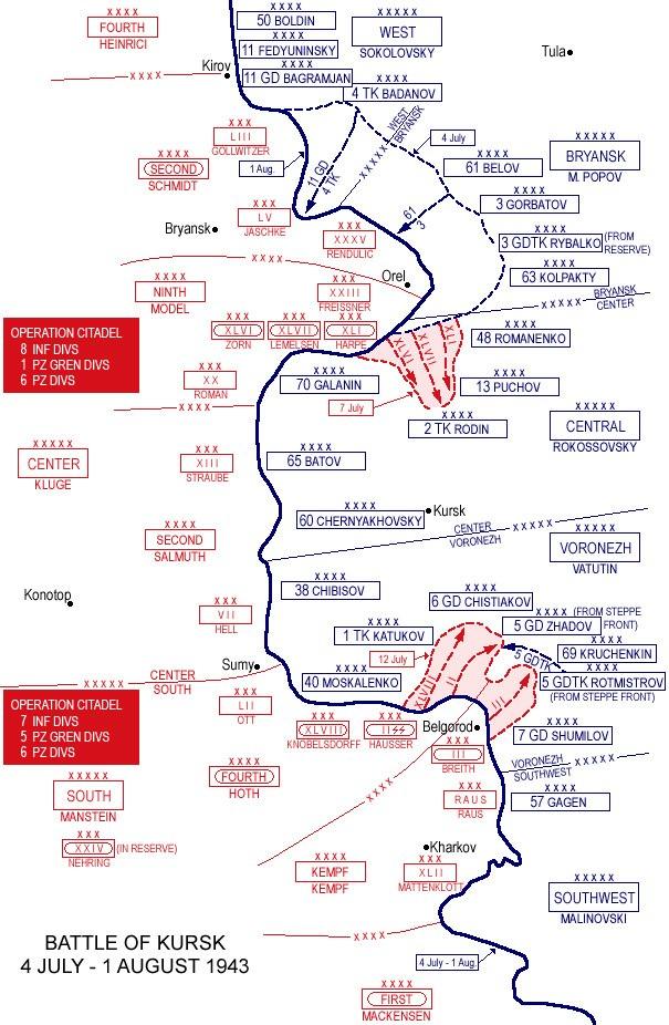 Battle of Kursk (map)