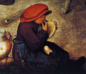 The Peasant Wedding - Image: Bauernhochzeit (Kind mit Schüssel)