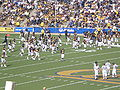 Bears take the field at end of halftime at ASU at Cal 10-4-08 3.JPG