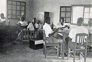 Évolué - A social club in the Belgian Congo, c.1943.
