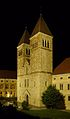 Benediktinerabtei Seckau, Türme der Basilika bei Nacht 1.jpg