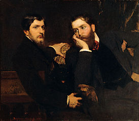 Portrait de ses deux fils