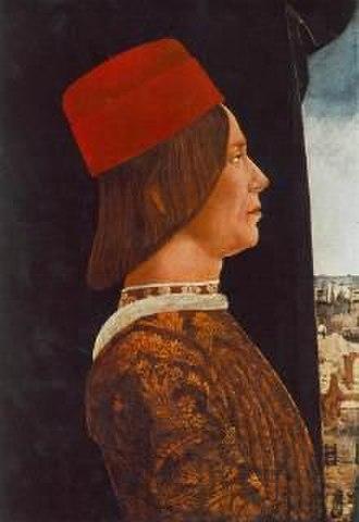 Giovanni II Bentivoglio - Portrait of Giovanni II Bentivoglio, c. 1480, by Ercole de' Roberti.