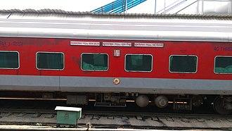 Bhubaneswar Rajdhani Express - Bhubaneswar Rajdhani Express via Sambalpur City - AC 3 tier coach