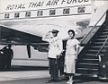 Bhumibol Adulyadej, Sirikit at Mingaladon (02.03.1960).jpg