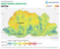 Bhutan DNI Solar-resource-map GlobalSolarAtlas World-Bank-Esmap-Solargis.png