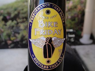 Head badge - Image: Bike Friday Head Badge