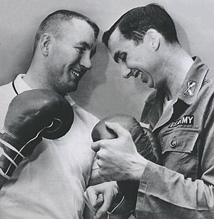 Bill Nieder - Bill Nieder (left) and Don Bowden in 1960