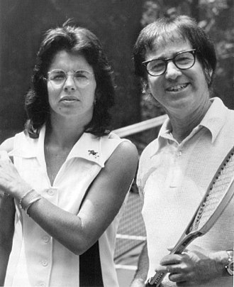 Billie Jean King - Billie Jean King and Bobby Riggs in 1973