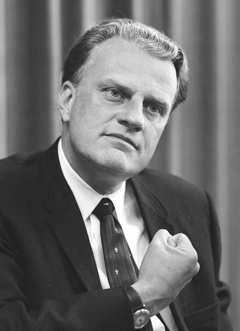 Billy Graham bw photo, April 11, 1966