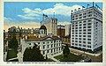 Bird's-eye view of Post Office with Hotel Portland and American Bank Building in the background, Portland, Oregon (AL+CA 1766).jpg