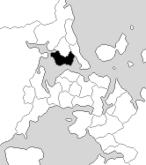 Birkenhead (New Zealand electorate) - Birkenhead electorate boundaries between 1993 and 1996.