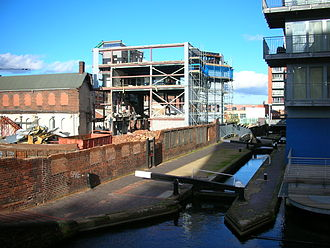 Elkington Silver Electroplating Works - Demolition of the buildings not fronting Newhall Street, in October 2006