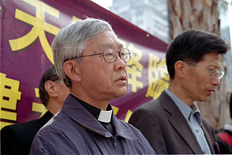 Joseph Zen - Bishop Joseph Zen prayed with Catholics before the protest against Hong Kong Basic Law Article 23 legislation