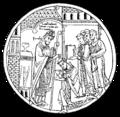 Biskop ordinerande en präst, Nordisk familjebok.png