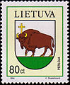 Bison on stamp Lithuania Perloja.jpg