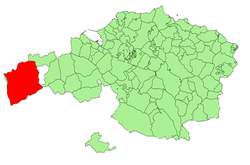 Location of Karrantza within Biscay