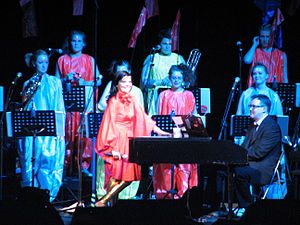 "Venus as a Boy - Björk performing ""Venus as a Boy"" at the Volta Tour, with Harpsichord accompaniment by Jónas Sen."