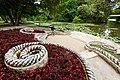 Blanquefort - Parc de Majolan - le débarcadère à la lyre - sculpture avec des mosaïques de galets - conservée et restaurée par Danielle Justes.jpg