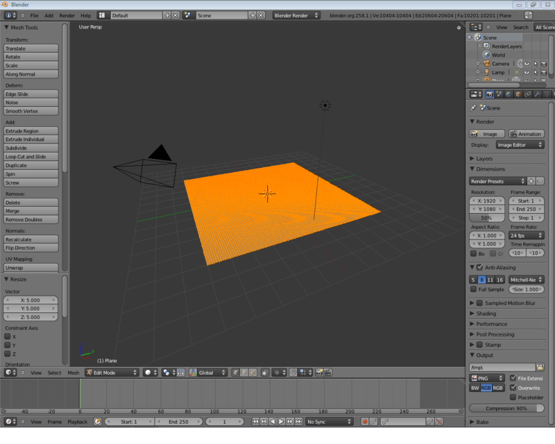 Blender-2.5 flying through canyon subdivided plane.png