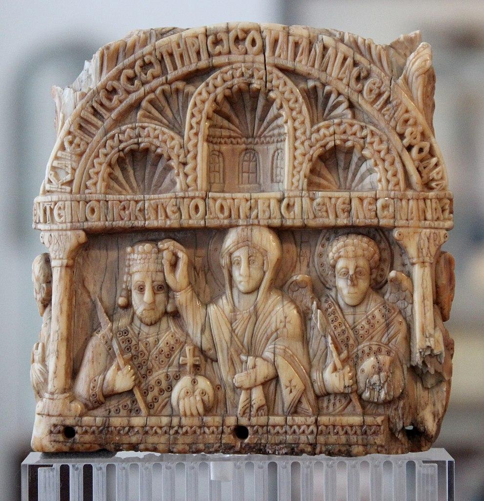 Art byzantin : Sculpture en marbre au musée Bode de Berlin.