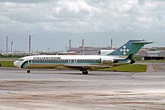 Serviços Aéreos Cruzeiro do Sul - Boeing 727-193 of Cruzeiro at Rio de Janeiro International airport in 1975.
