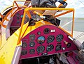 Boeing Stearman (ZS-OVZ), cockpit, Rand Airport 2004.jpg