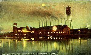 Great Southern Lumber Company - Great Southern Lumber Company sawmill, circa 1920