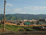 Bogd Khan Uul Mount view from Ulan Bator, Mongolia.JPG