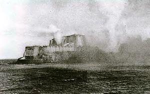 Ramón Acha Caamaño - Bombardment of San Felipe del Morro