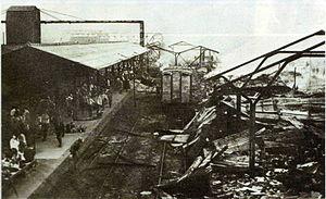 Fukuyama, Hiroshima - Bombing of Fukuyama Station, 9 August 1945