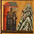 Bonaventura Berlinghieri, San Francesco e storie della sua vita, 1235, 03 predica gli uccelli.jpg