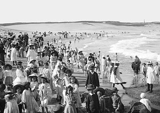 Bondi Beach - 'Bondi Bay' - a photo from circa 1900 from The Powerhouse Museum