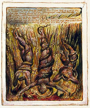The Book of Urizen - Copy G, plate 7. Urizen is cast out from eternity