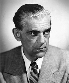 Boris Karloff English actor