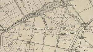 Borough Fen - Borough Fen Map 1856