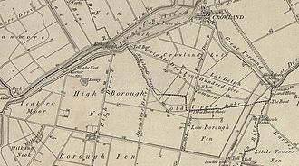 Borough Fen - Borough Fen Map 1856